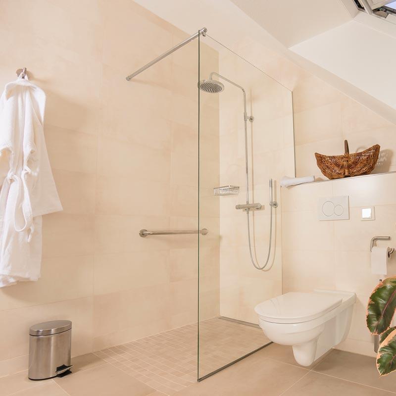 4 Sterne Wellness Dusche im Landgasthaus