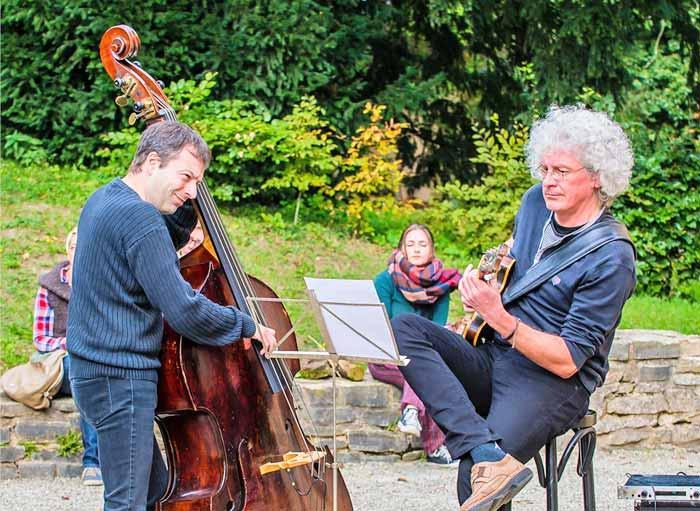 Musikanten beim Landgasthaus auf dem Wintringer Hoffest